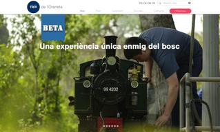 Benvinguts a la nova pàgina web del tren de l'Oreneta.