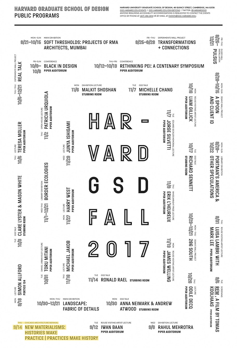 Ensamble Studio 2017 Chicago Architecture Biennial GSD Harvard New Materialisms: Histories Make Practice | Practices Make History Public Lecture