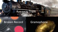 AML - Broken Record, Old Gramophone in a Runaway Train