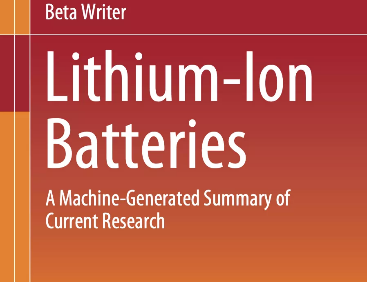AI Writes a Book Summarising Lithium Ion Battery Research in World First