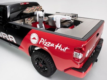 Toyota and Pizza Hut Unveil New Mobile Robot Pizza Factory Concept