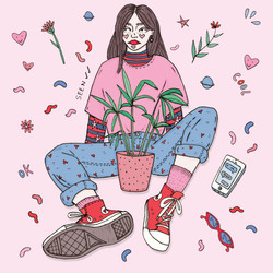 another plant girl