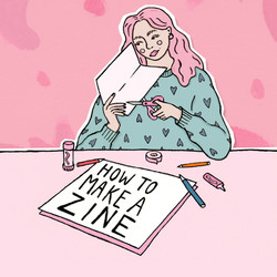 'How-to Make a Zine' front cover illustration