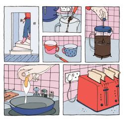 Breakfast comic