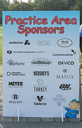 Practice Area Sponsor *Golf foursome not included*