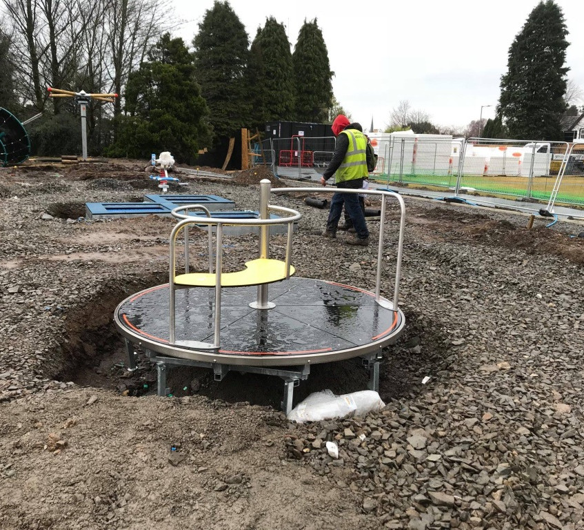 Installation of accessible  play equipment