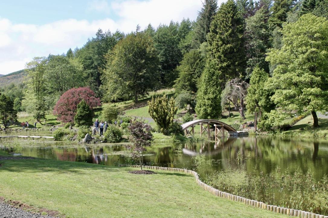 Restored tranquil lake