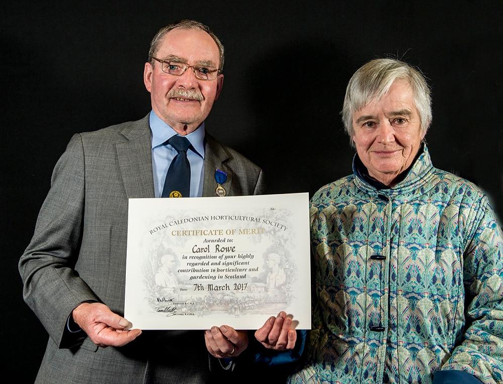Royal Caley certificate of merit