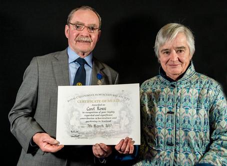 Carol Rowe Royal Caley Award