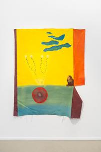 Lotte Maiwald, Süß rund hell, 2018, acrylic and marker on canvas, 187 x 148 cm