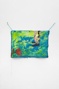Lotte Maiwald, Mitten zwischen Fischen, 2019, acrylic on canvas, 46 x 66 cm