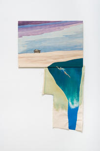 Lotte Maiwald, Ein Haus (a House), 2018, oil and acrylic on wood and canvas, 101 x 61