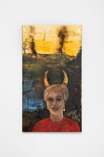 Stanislava Kovalčíková, Horny Apocalypse, 2021, oil on linen, 105 x 100 cm