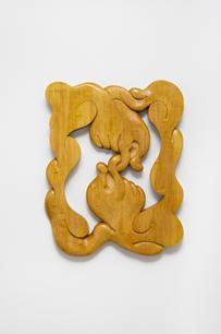 Eliška Konečna, It should be us, 2021, linden wood, woodcarving, 51 x 66 cm