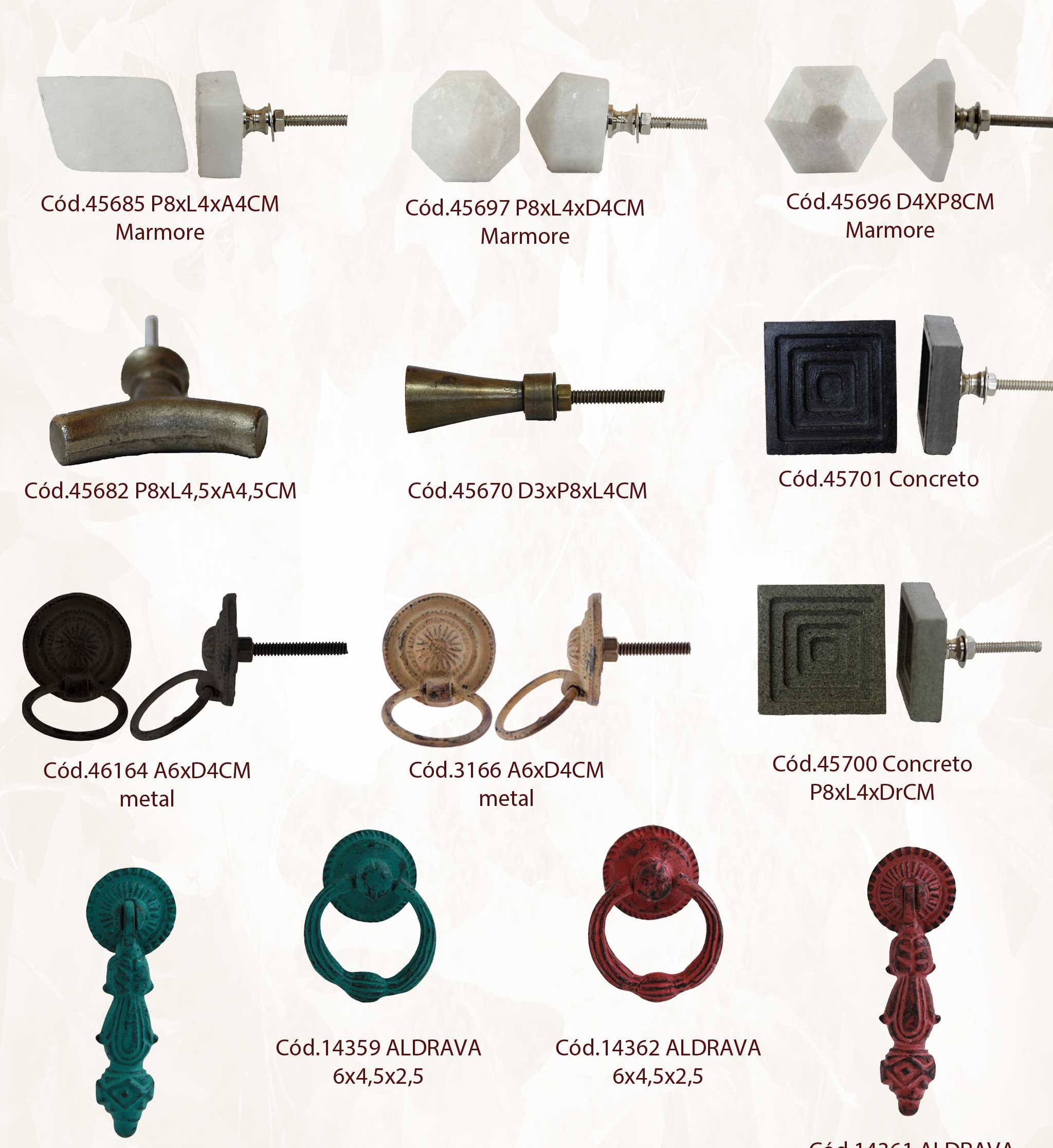 Puxador ferro