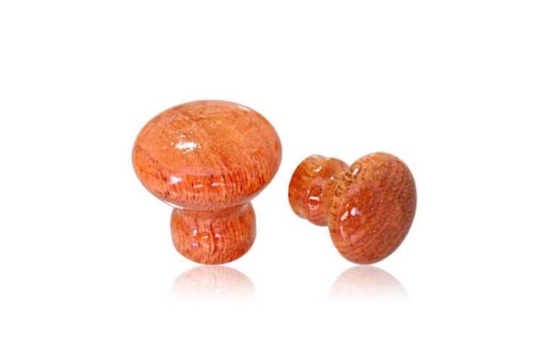 Puxador Madeira Cogumelo cerejeira