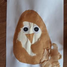 kreatywny sposód na kurczątko w jajku