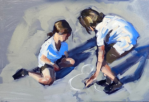 Painting kids arms and legs in the correct place