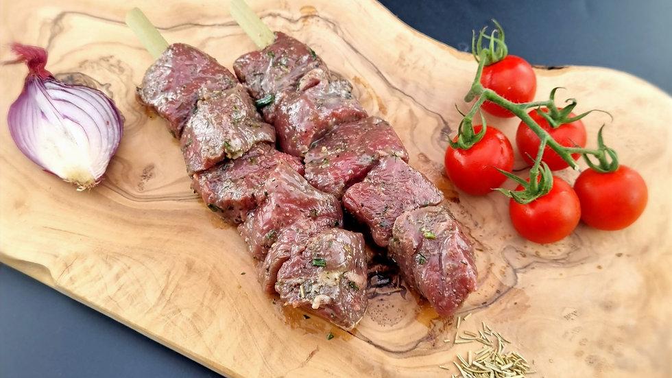 4 Garlic & Herb Beef Kebabs