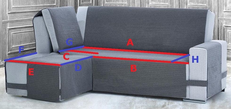 SalvaDivano con ANGOLO | copridivano angolare | su misura del divano