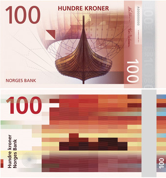 Art on Norwegian Banknotes, despite the controversy, I love it!