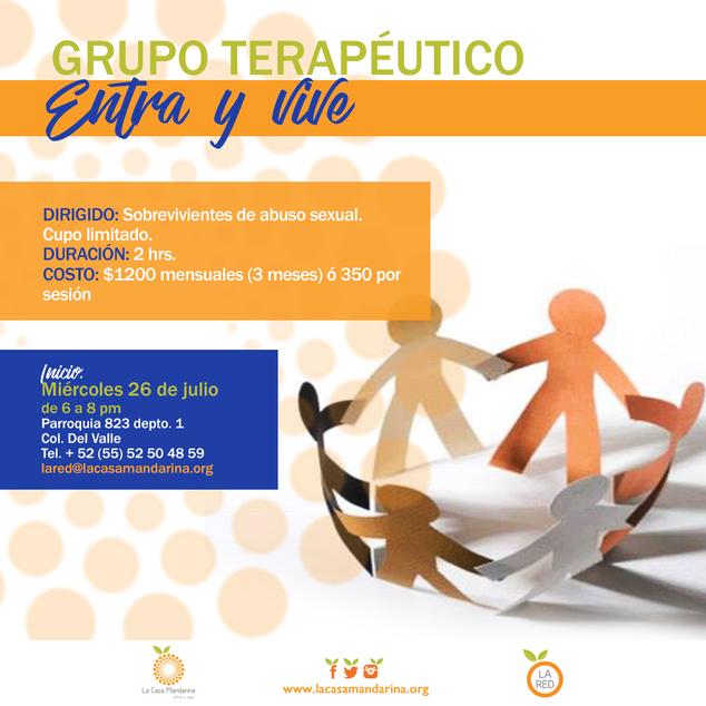 Grupo terapéutico para sobrevivientes de violencia sexual