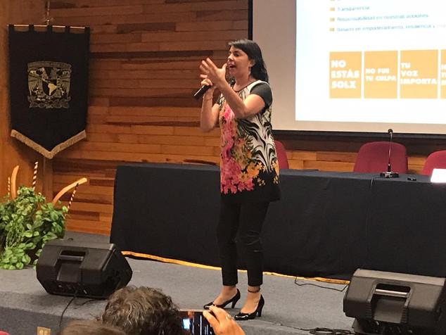 Conferencia en la Facultad de Psicología de la UNAM