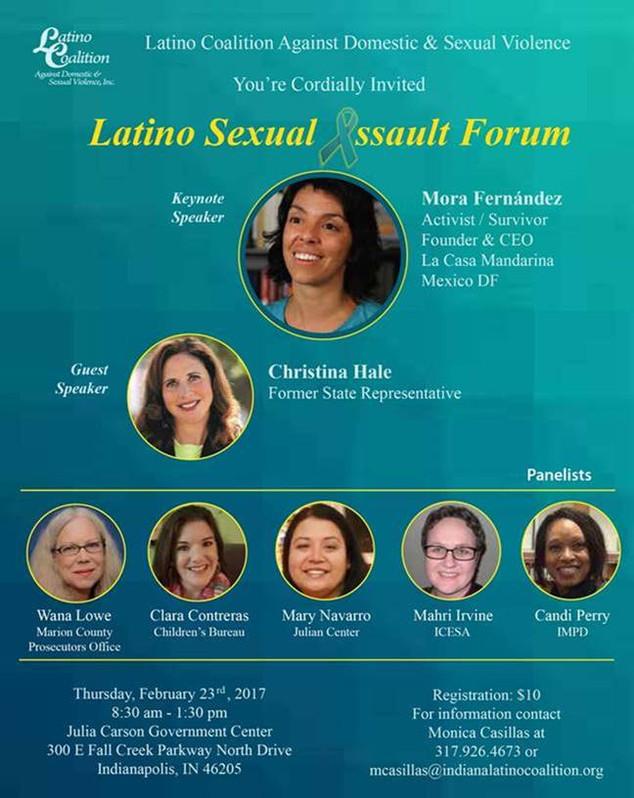 Latino Sexual Assault Forum in Indianapolis.