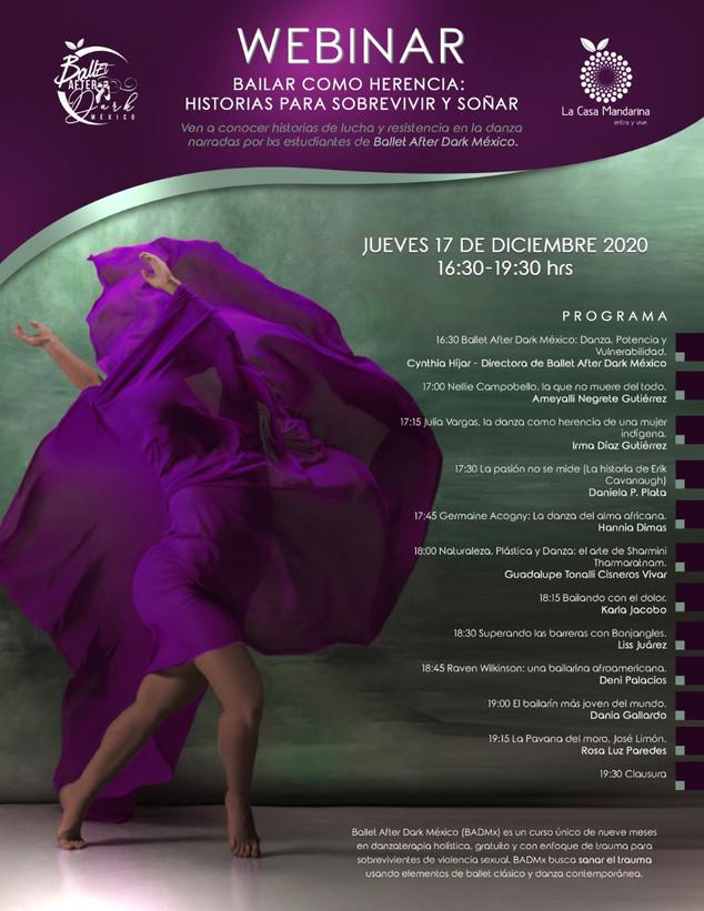 """""""Bailar como herencia: historias para sobrevivir y soñar. Lucha y resistencia en la danza"""" BADMx"""