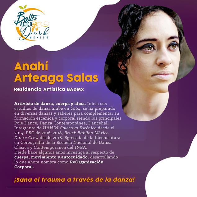 Residencia Artística BADMx: Anahí Arteaga