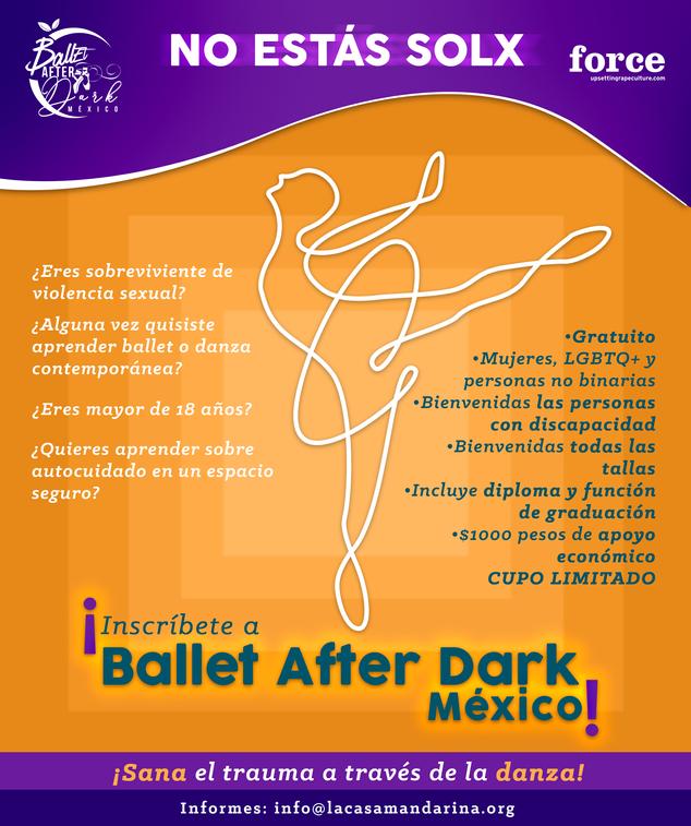 Ballet After Dark México - Inscripciones abiertas