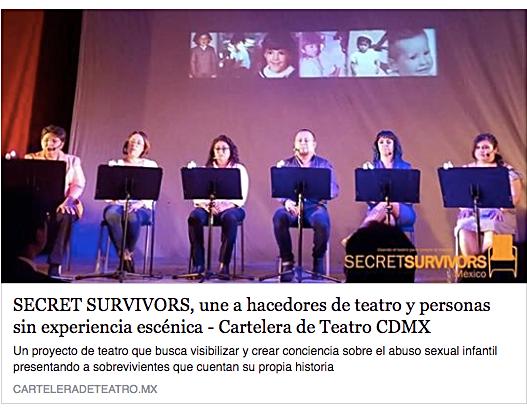 Secret Survivors, une a hacedores de teatro y personas sin experiencia escénica