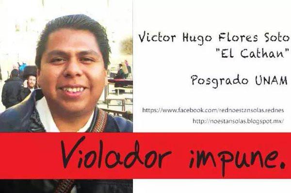 "Violadores impunes: Víctor Hugo Flores ""Cathan"""