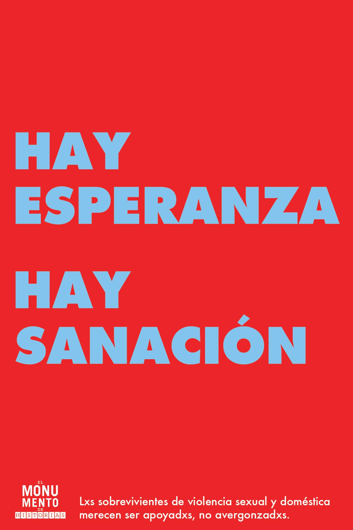 HAY ESPERANZA HAY SANACIÓN