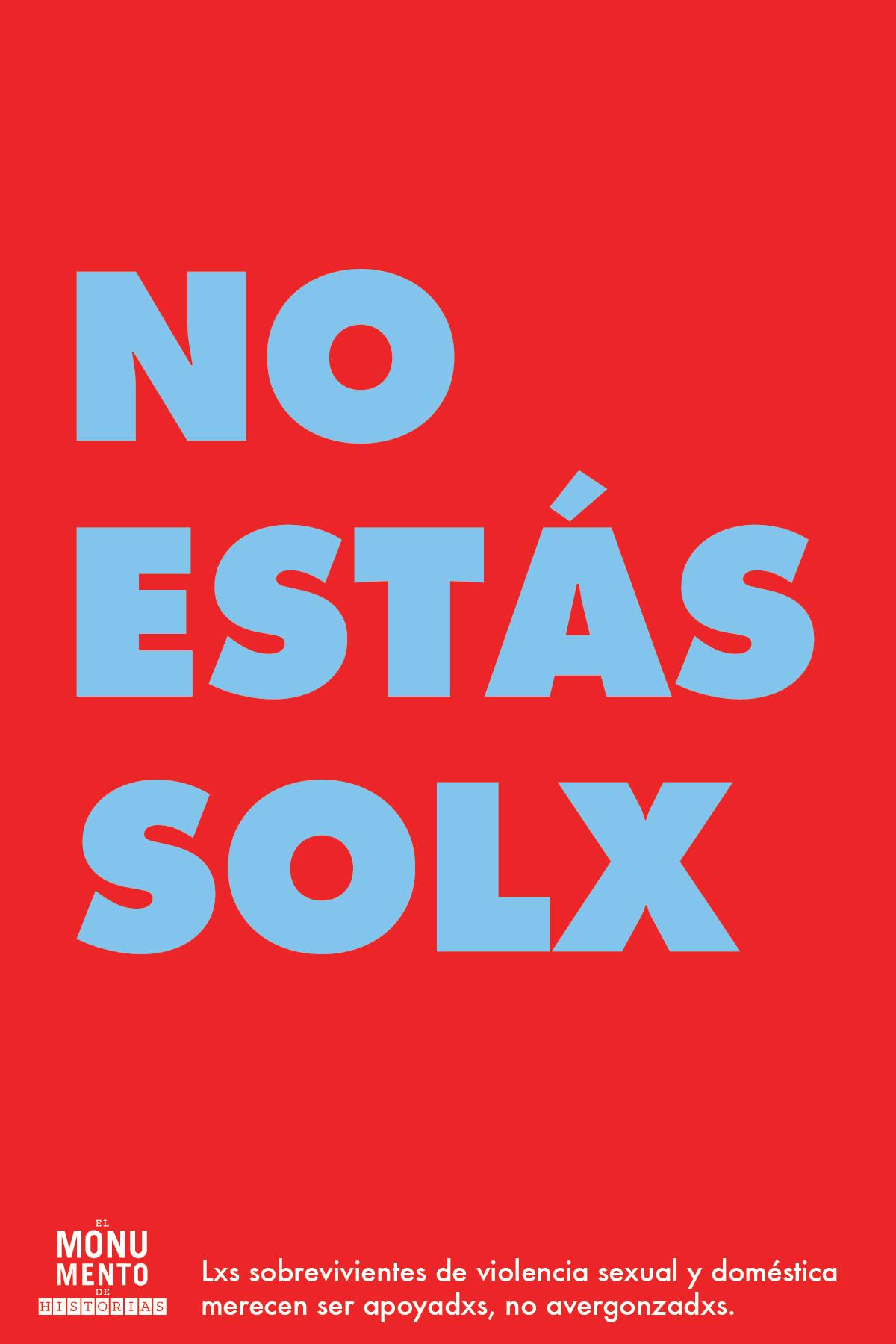 NO ESTAS SOLX