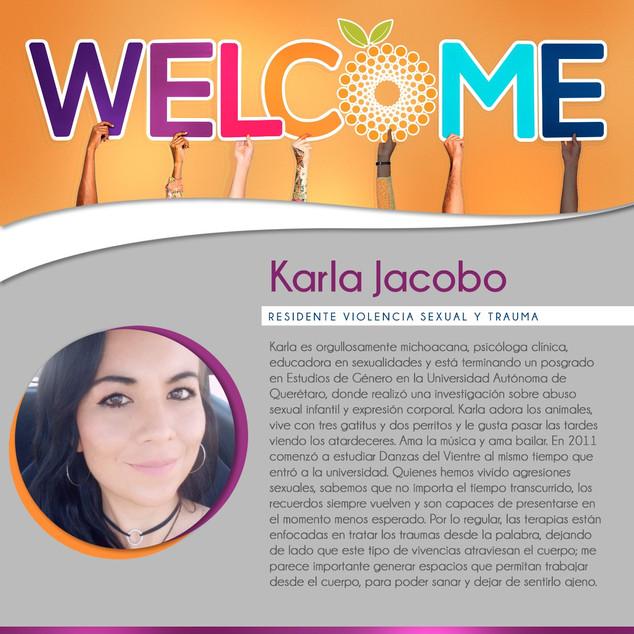 Bienvenida Karla Jacobo - Residencia en Violencia Sexual y Trauma