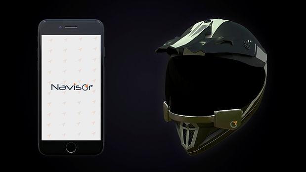 smart helmet navigation assistant for bike riders and racers