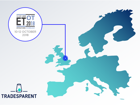 TRADESPARENT IS DELEGATE SPONSOR OF THE ETOT SUMMIT 2018