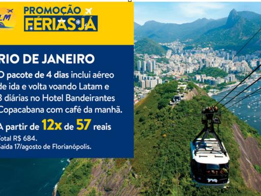 Rio em 12 x R$ 57,00