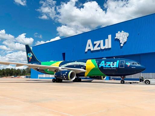 A Azul não para voos para EUA e Europa