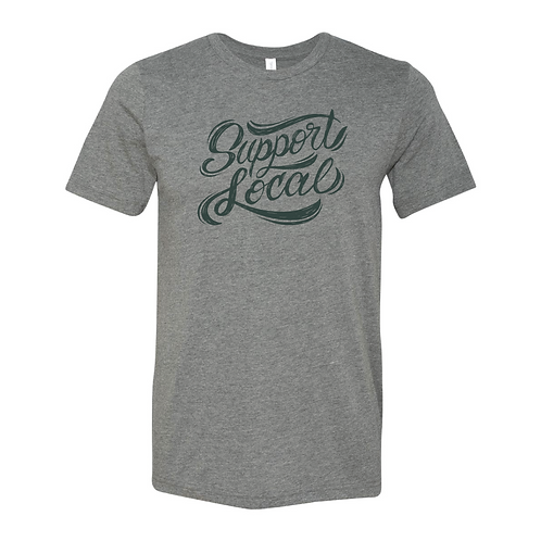 Support Local Tee in Deep Heather