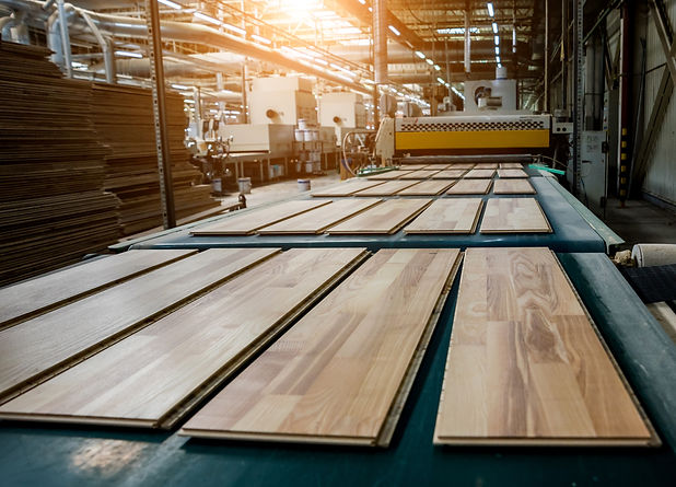 Production line of the wooden floor fact