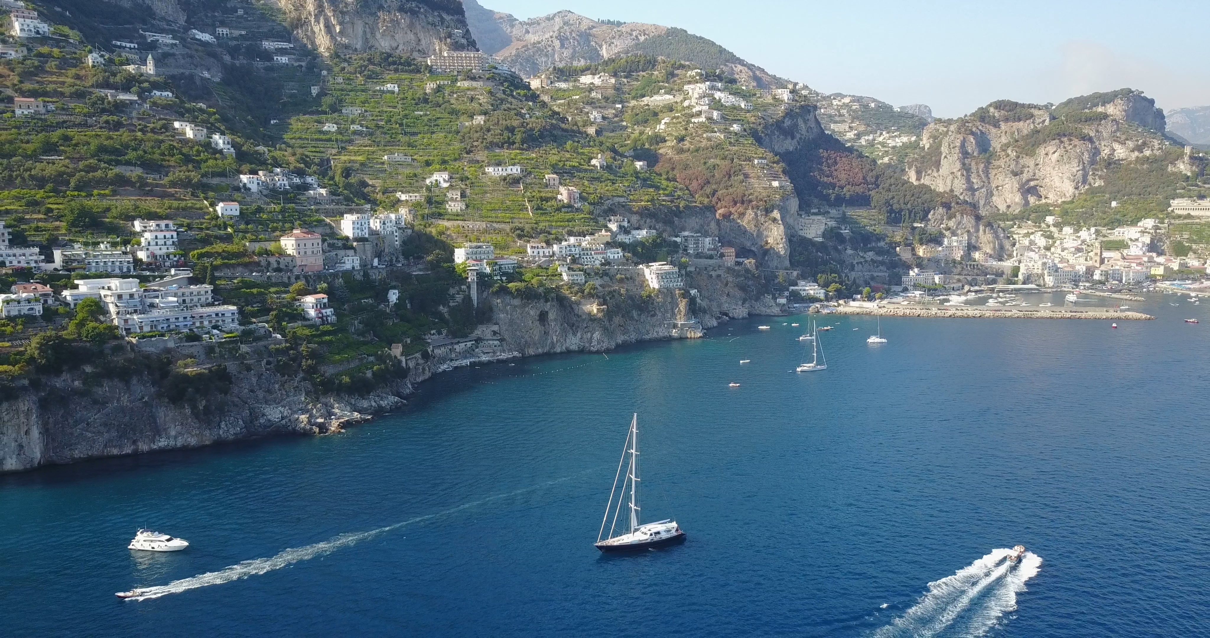 Anchored off the Amalfi Coast