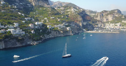 Anchored off the Amalfi Coast