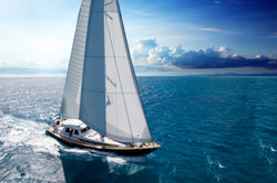 Ree with full sails