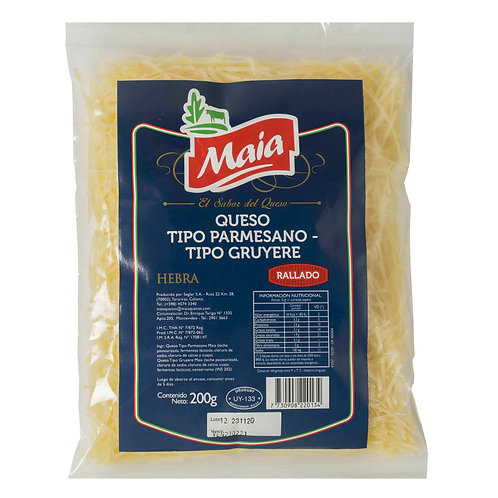 Rallado hebra Parmesano Gruyere 200g