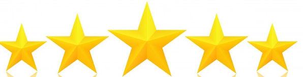 cinco-estrelas-douradas-com-reflexo_9164