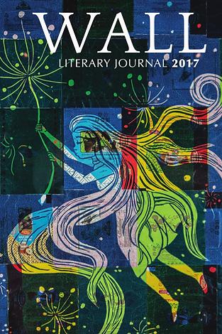 Multi-colored woman holdinga dandelion while floating among stars