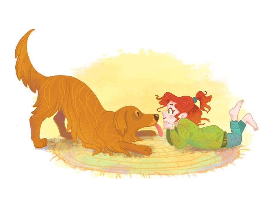 Hund und Mädchen