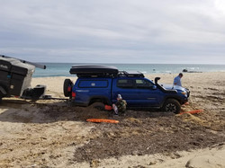 Practicing Skills on the Beach
